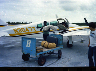 George's Plane on Treasure Cay