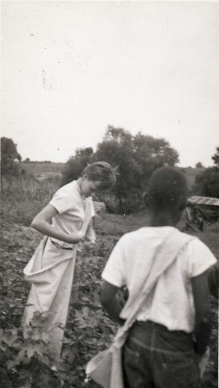 Christa Picking Cotton
