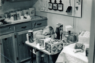Frank, my kitchen, 1967
