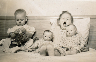 Demaris & Lillie with dolls