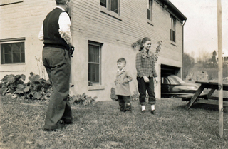 Uncle Jack w. Jimmy & Lillie, 1952